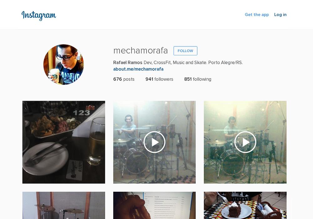 Nova versão do Instagram para a Web.